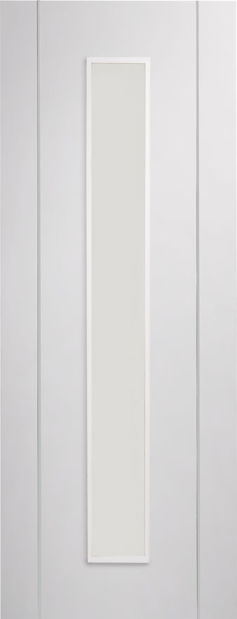 Forli Glazed Pre-Finished White Internal Door