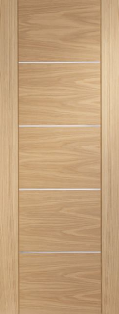Portici Fire Door: FD30 Architectural Flush *Pre-Finished Oak* 44mm Internal Fire Door - XL Doors