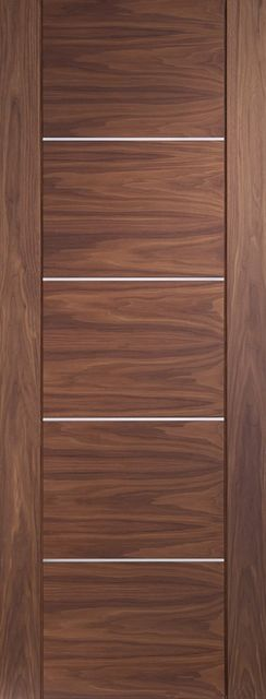 Portici Door: Architectural Flush [Pre-Finished Walnut] 35mm Internal Door - XL Doors