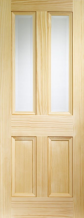 Edwardian 2-light Glazed Clear Pine Internal Door