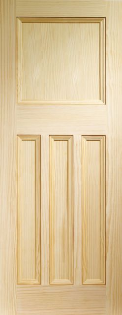 VINE DX DOOR: Flat 4-Panel Clear Pine 35mm Internal Door - XL Doors