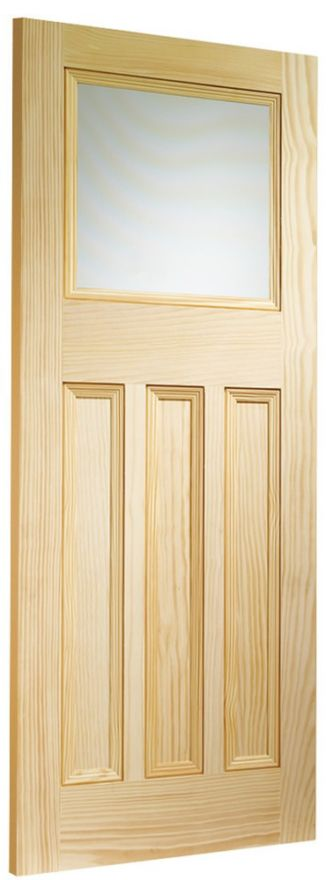 Vine DX 1-light Glazed Clear Pine Door