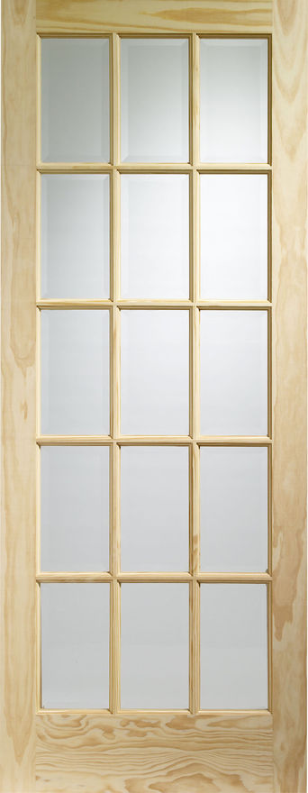 SA77 Clear Glazed Clear Pine Internal Door