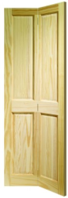Victorian Bi-Fold Door: 4-Panel Clear Pine 35mm Internal Bi-Folding Door - XL Doors