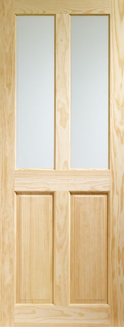 VICTORIAN DOOR: 2-light Unglazed Clear Pine 35mm Internal Door - XL Doors