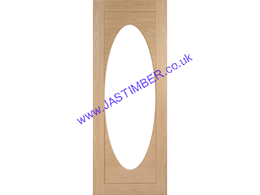 Livorno Glazed Oak Door - Clear-Glass