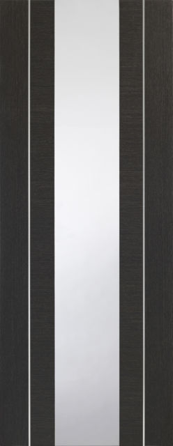 Forli Glazed Door: 1-light *Clear Glazed* *Pre-Finished Dark Grey* 35mm Internal Door - XL Doors