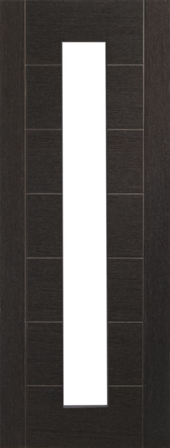 Palermo Glazed Door: 1-light *Clear Glazed* *Pre-Finished Dark Grey* 35mm Internal Door - XL Doors