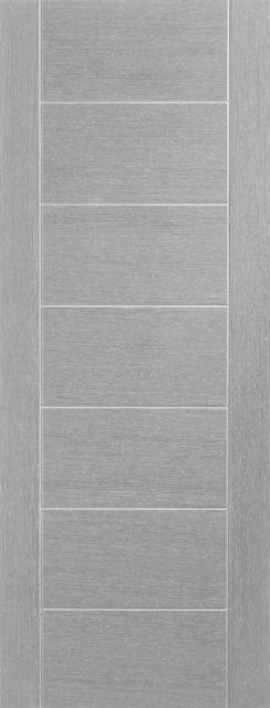 Palermo Door: Architectural Flush *Pre-Finished Light Grey* 35mm Internal Door - XL Doors