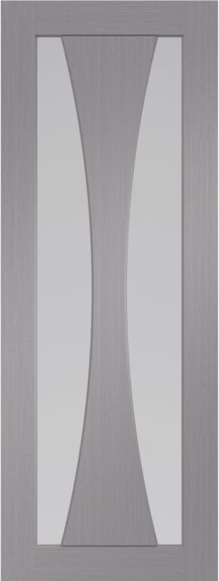 Verona Glazed Door: 2-light *Clear Glazed* *Pre-Finished Light Grey* 35mm Internal Door - XL Doors