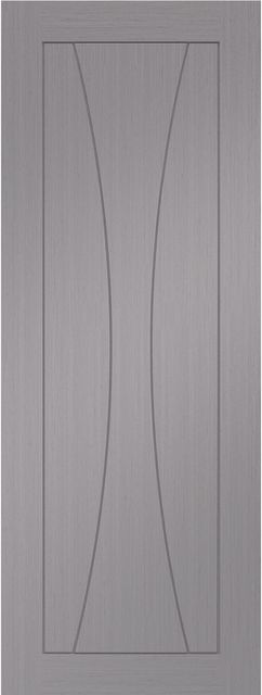 Verona Door: Flush-routered *Pre-Finished Light Grey* 35mm Internal Door - XL Doors
