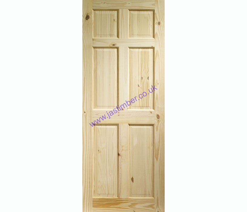 Colonial 6-Panel Knotty Pine Internal Door - XL Joinery