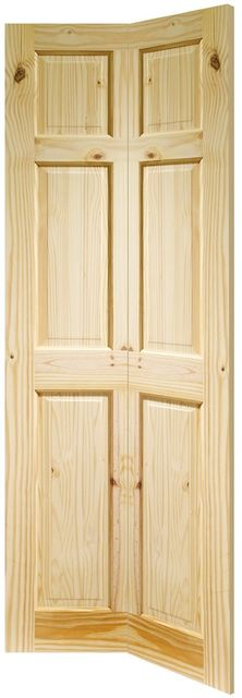 COLONIAL Bi-Fold DOOR: 6-Panel Knotty Pine 35mm Internal Bi-Folding Door - XL Doors