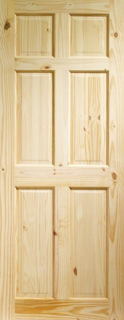COLONIAL DOOR: 6-Panel Knotty Pine 35mm Internal Door - XL Doors