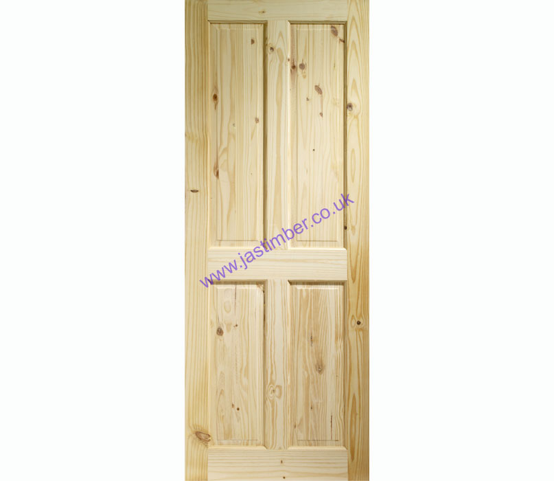 Victorian 4-Panel Knotty Pine Internal Door - XL Joinery