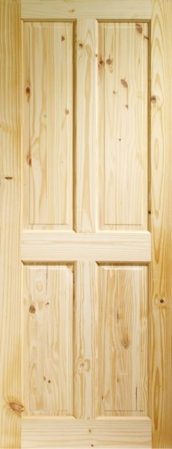 VICTORIAN DOOR: 4-Panel Knotty Pine 35mm Internal Door - XL Doors
