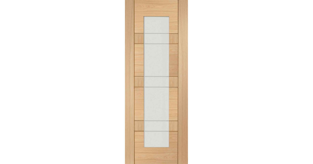 Latina Glazed Oak Internal Door