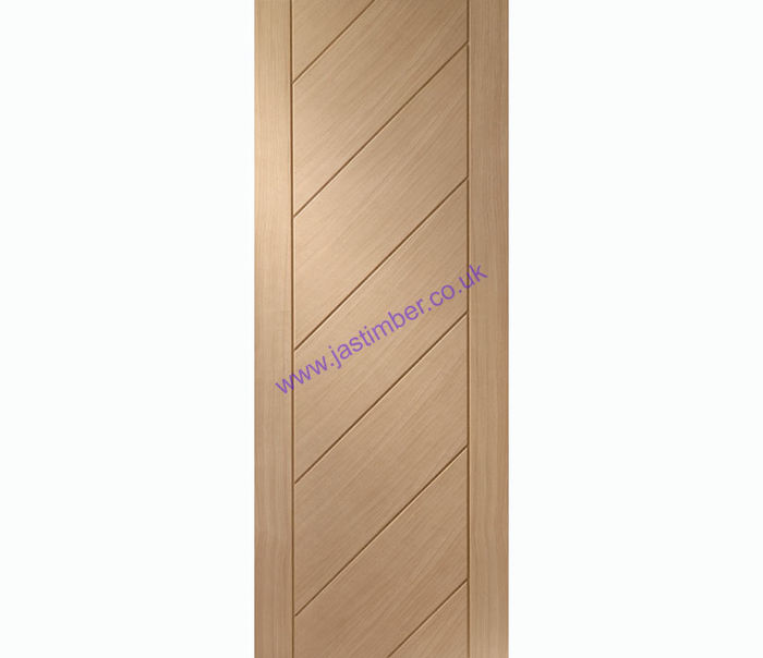 XL Monza Flush V-Groove Oak Internal Door