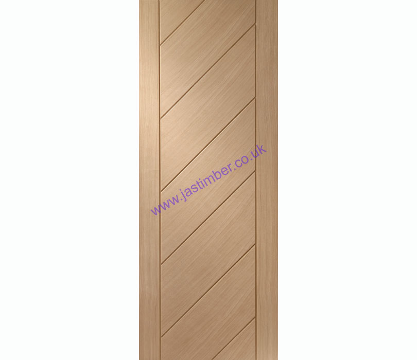 Monza Flush Oak Internal Door - XL Joinery