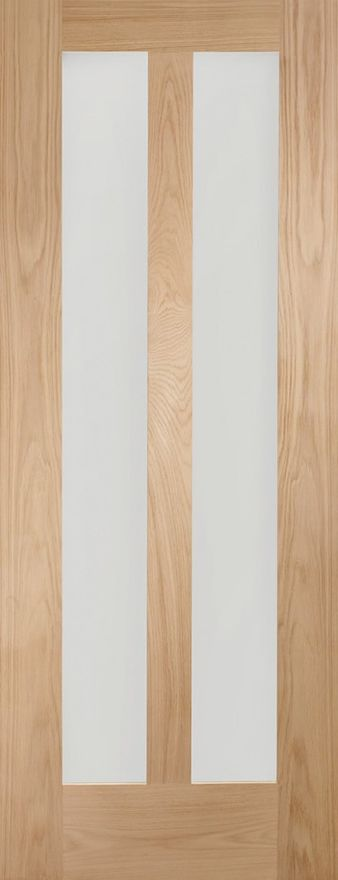 Novara 2-light Glazed Oak Internal Door