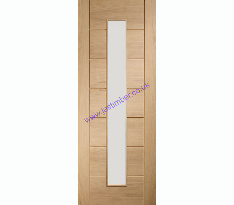 Palermo 1-Light Clear Glazed Oak Internal Door