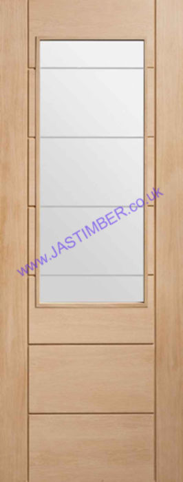 Palermo 2XG Glazed Oak Internal Door