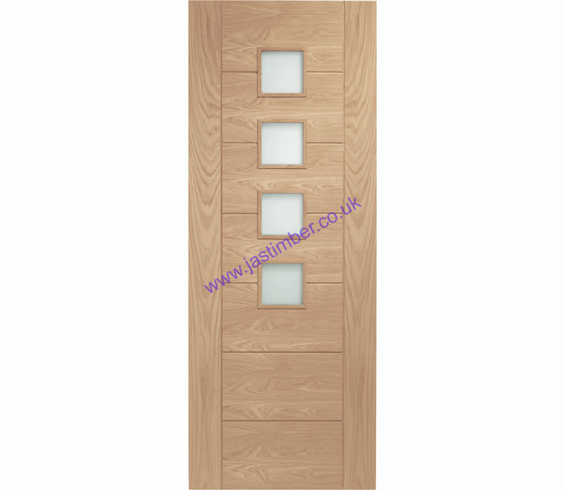 Palermo 4-light Glazed Oak Internal Door - XL Joinery