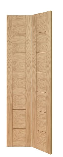 Palermo Bi-Fold Door: Architectural Flush *Unfinished Oak* 35mm Internal Bi-Folding Door - XL Doors