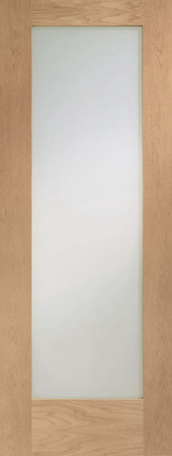 Pattern 10 Glazed Fire Door: FD30 1-light *Clear Glass* *Oak* 44mm Internal Fire Door - XL Doors