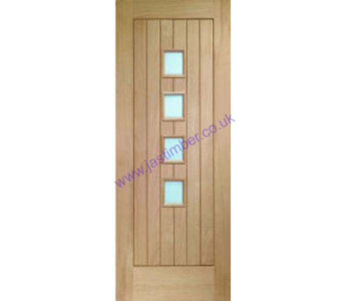 Contemporary Suffolk Glazed Oak Internal Door
