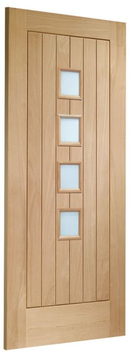 Contemporary Suffolk 4-light Glazed Oak Internal Door