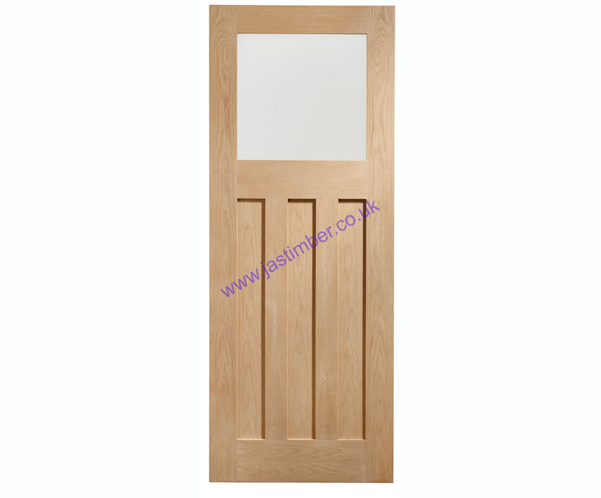 DX 1-light Glazed Oak Internal Door