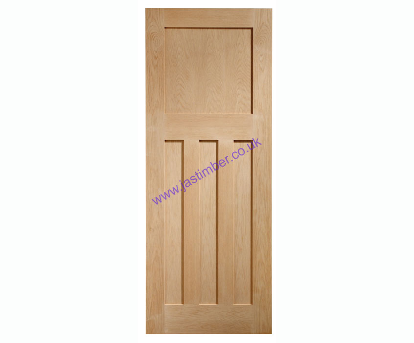 DX 4-Panel Oak Internal Door