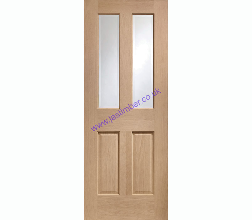 Malton 2-light Glazed non-RM Oak Internal Door