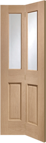 Malton Bi-Fold 2-light Glazed Oak Internal Door - XL Joinery