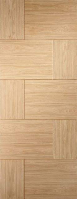 Ravenna Door: Flush V-Groove *Unfinished Oak* 35mm Internal Door - XL Doors