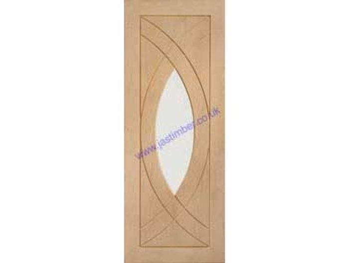 Treviso Clear Glazed Oak Door - 10% Offer