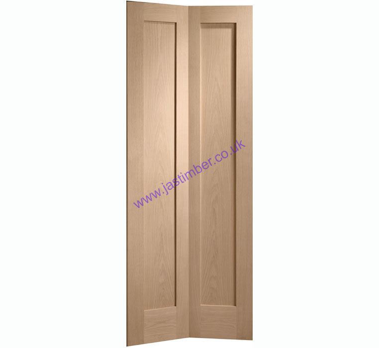 Pattern 10 2-Panel Bi-Fold Oak Internal Door