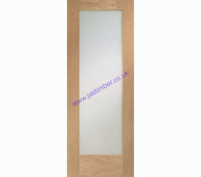 Pattern 10 1-light Clear Glazed Oak Internal Door
