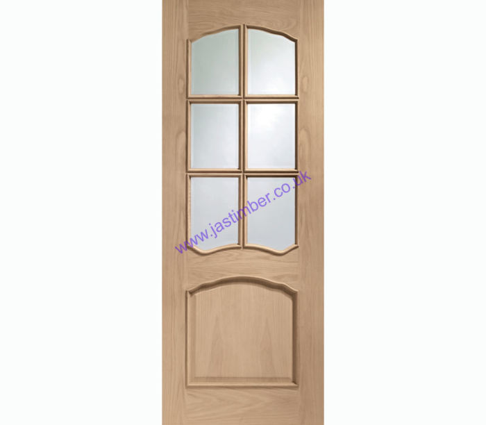 Riviera 6-light Glazed Oak Internal Door