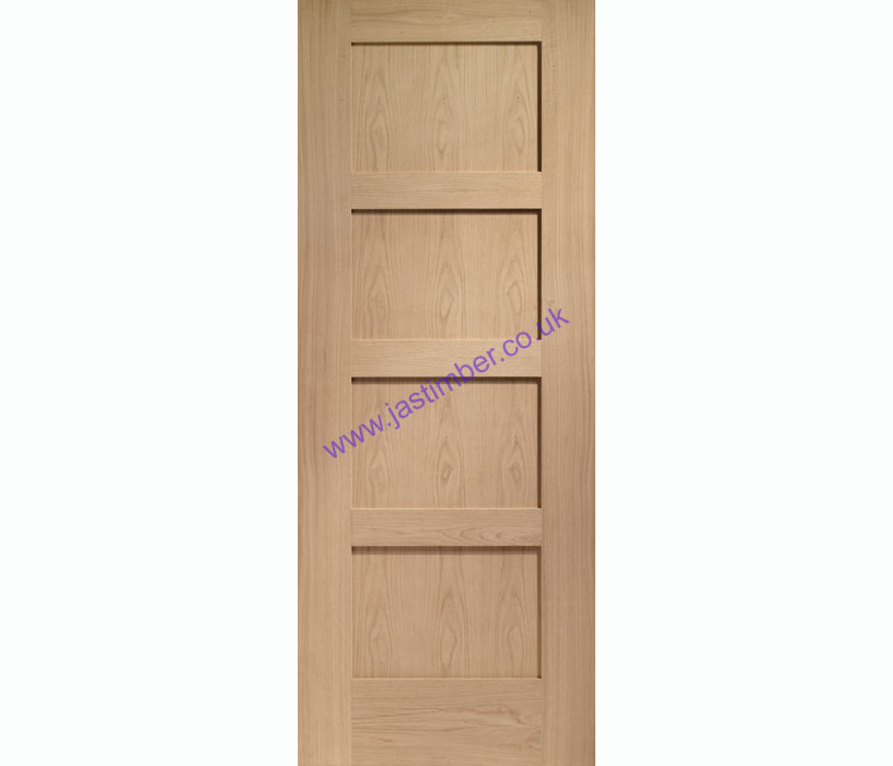 Shaker 4-Panel Oak Internal Door