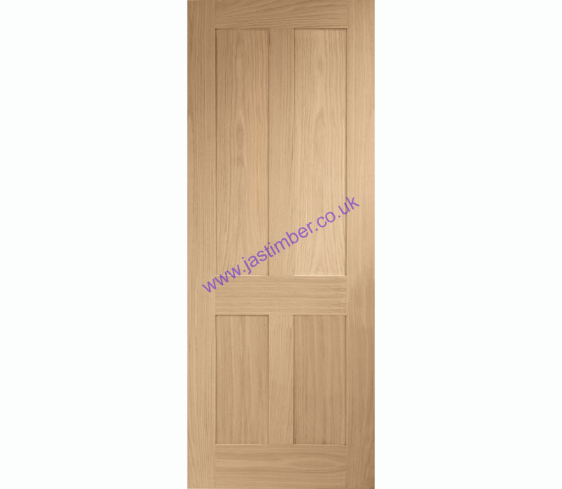 Victorian Shaker 4-Panel Oak Internal Door