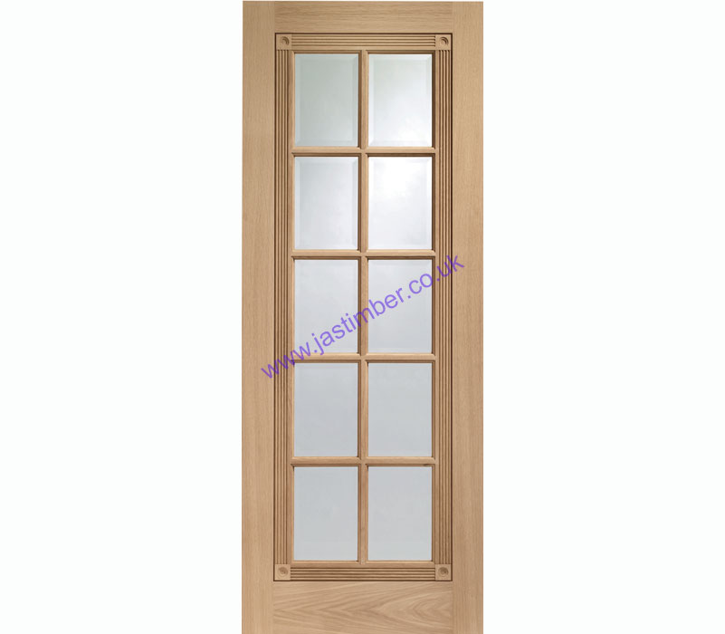 Whitechapel 10-light Glazed Oak Internal Door - XL Joinery