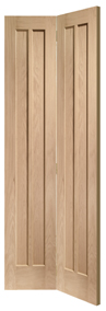 Worcester Bi-Fold 4-panel Oak Internal Door - XL Joinery