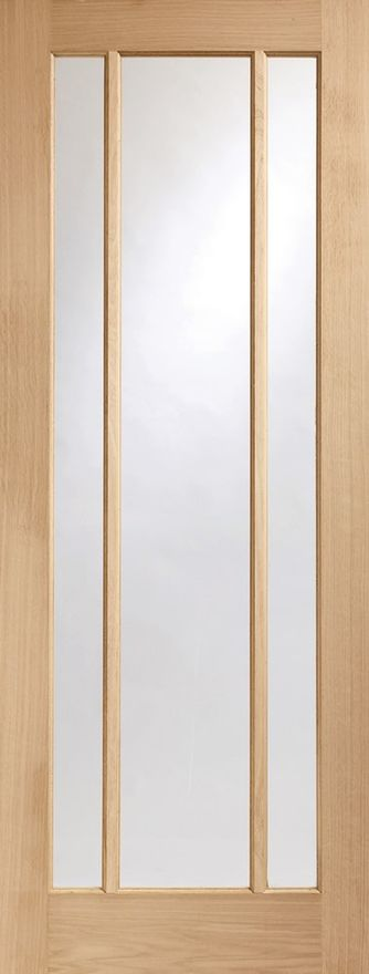 Worcester 3-light Glazed Oak Door