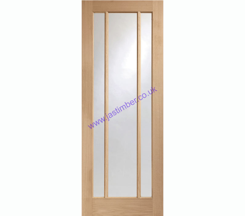 Worcester 3-light Glazed Oak Internal Door