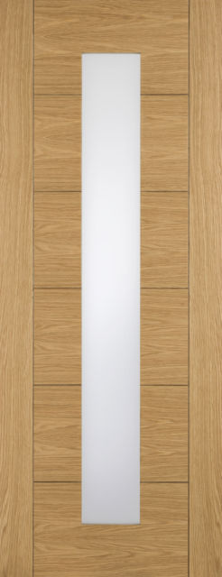 Taunton Glazed Door: 1-light *Clear Glass* *Pre-Finished Oak* 35mm Internal Door - XL Doors