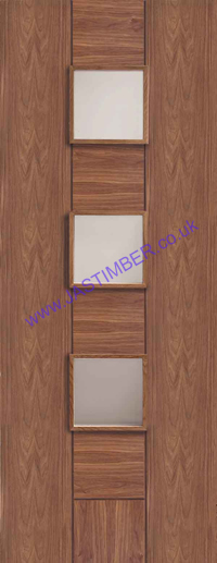 Messina Glazed Walnut Door