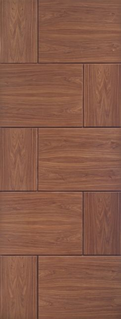 Ravenna Door: Flush V-Groove *Pre-Finished Walnut* 35mm Internal Door - XL Doors