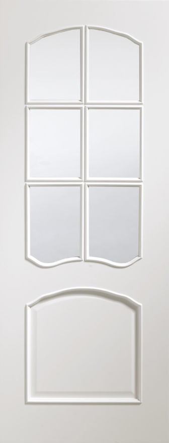 Riviera Glazed Pre-Finished White Door
